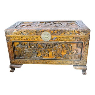 Antique Chinese Hand-Carved Chest