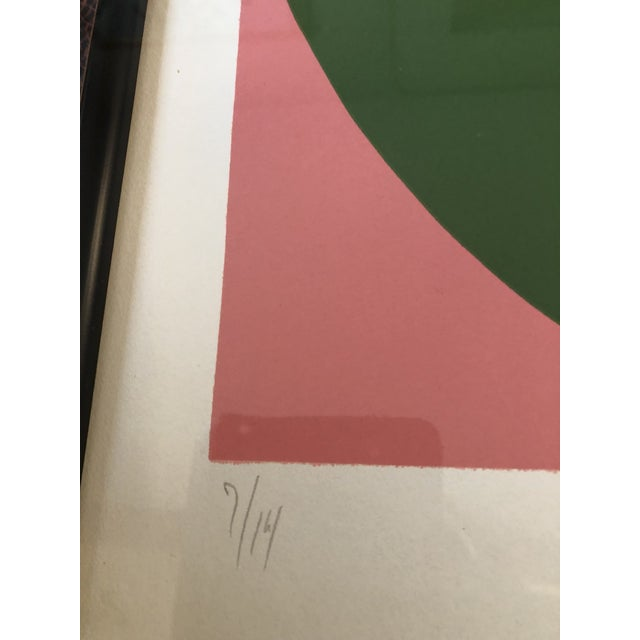 Abstract Original Robert Cooke Abstract Lithograph Mid Century 1970's Signed For Sale - Image 3 of 6