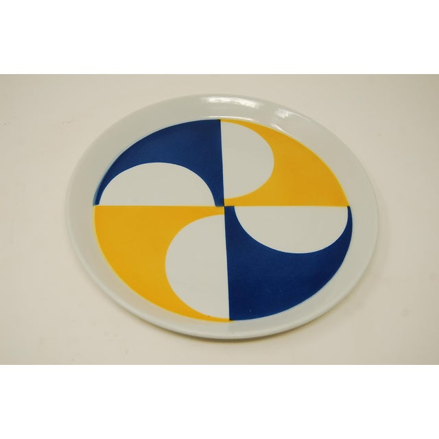 Mid-Century Modern Rare Set of 10 Gio Ponti for Franco Pozzi Plates For Sale - Image 3 of 4