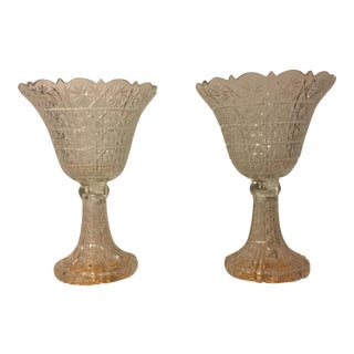 Lead Crystal Centerpieces - A Pair