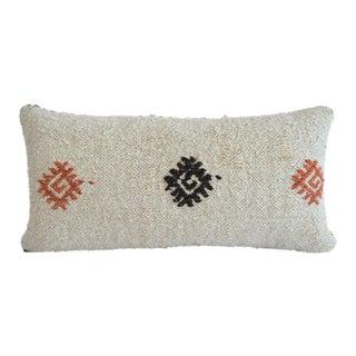 Lumbar Pillow Cover. 100% Natural Hemp Kilim Pillow Turkish Rug Throw- 13ʺ X 26ʺ For Sale