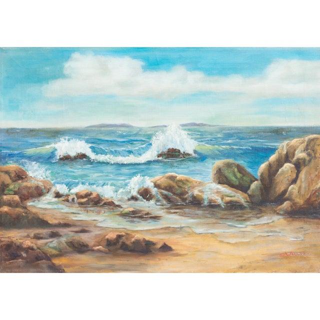 Catalina Island from Malibu by O.J.Walsh, 1955 For Sale