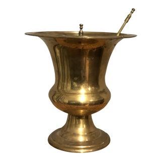 Vintage Brass Mortar & Pestle & Lid For Sale