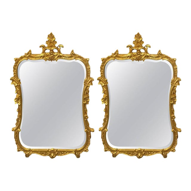 Friedman Brothers Chippendale Console Mirrors - A Pair For Sale