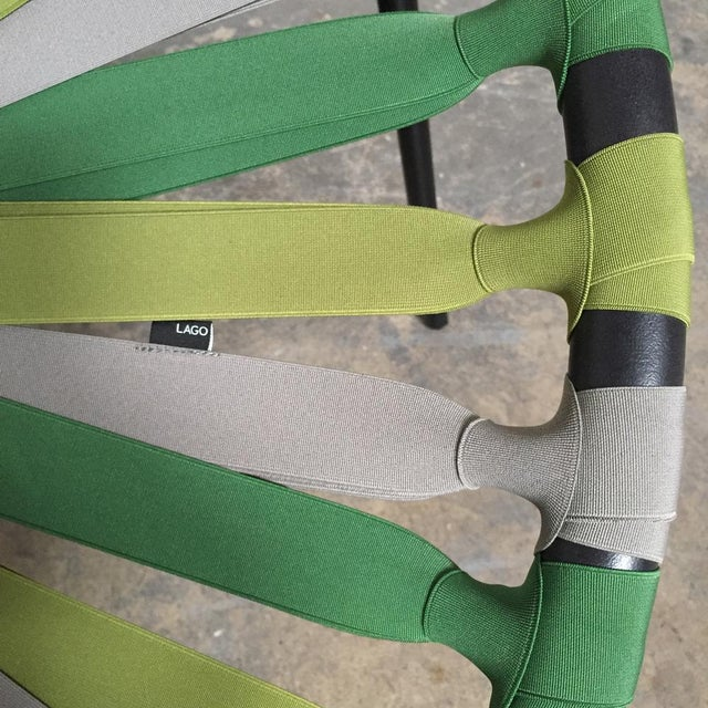 Modern Green Lastika Chair For Sale - Image 4 of 6