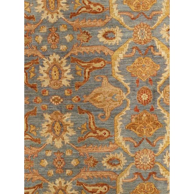 Floral Slate/Orange/Sienna Area Rug - 12′10″ × 17′ For Sale - Image 5 of 5
