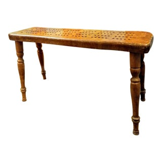 Vintage Cornwall Wood Cribbage Game Table For Sale