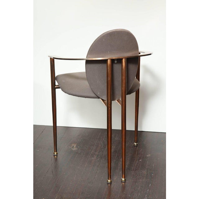 Set of Four Rose Gold-Plated Metal Chairs, 1970s For Sale - Image 4 of 8