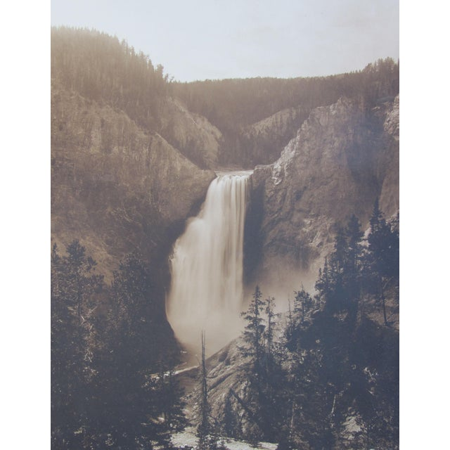 "Antique ""Yellowstone Falls"" Photograph - Image 2 of 3"