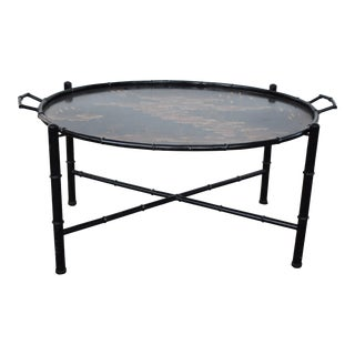 Chinoiserie Faux Bamboo Coffee Tray Table