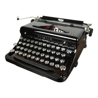 1930s Vintage Royal Model O Standard Portable Typewriter