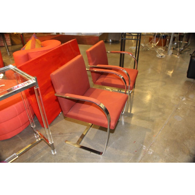 Knoll Mies Van Der Rohe Brno Chairs Flat Bar Dated 1980 - a Pair For Sale In Palm Springs - Image 6 of 10