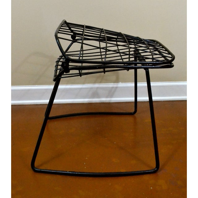 Vintage Danish Modern Wire Side Chair - Image 5 of 10