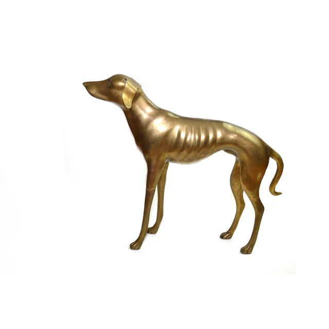 Brass Whippet or Greyhound - Image 3 of 6