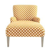 Image of Vintage Woven Fabric Chaise For Sale
