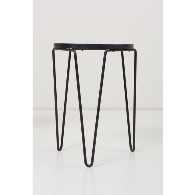 Florence Knoll Pair of Early Original Vintage Hairpin Stacking Stools or Side Tables by Knoll For Sale - Image 4 of 7