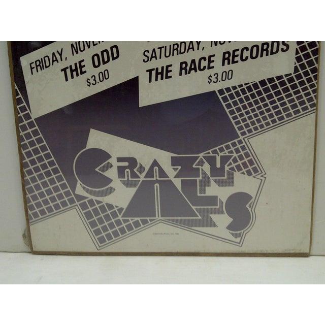 1980's Vintage Crazy Al's Concert Series Poster For Sale - Image 4 of 4