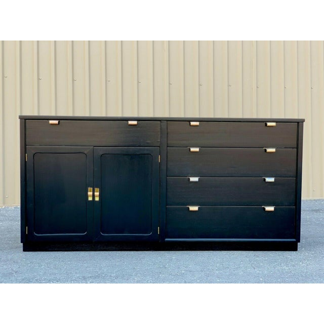 Mid century modern ebonized vanity/dresser by Edward Wormley for Drexel's Precedent Collection. This vanity was designed...