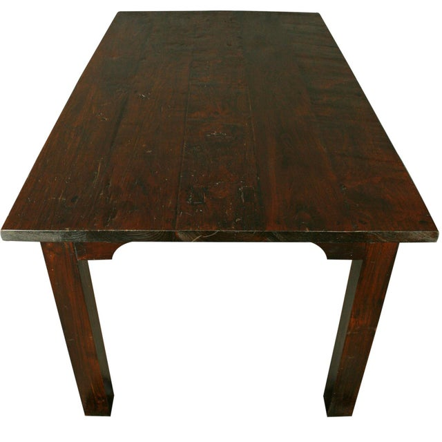 Solid Oak with Teak Country Style Dining Table - Image 8 of 8