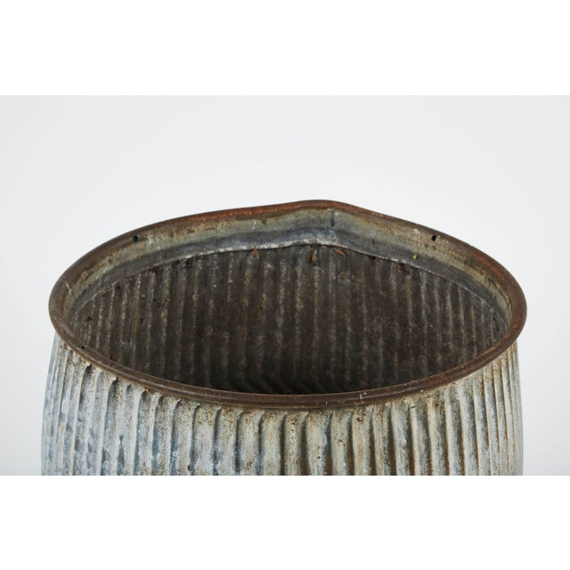 English 1990s English Zinc Garden Pots - a Pair For Sale - Image 3 of 10