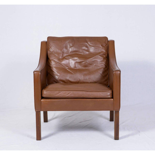 Børge Mogensen model #2207 leather lounge chair designed in 1963 and produced by Fredericia. Store formerly known as...