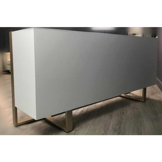 Cleo Spike Wood Cabinet in White For Sale In Los Angeles - Image 6 of 8
