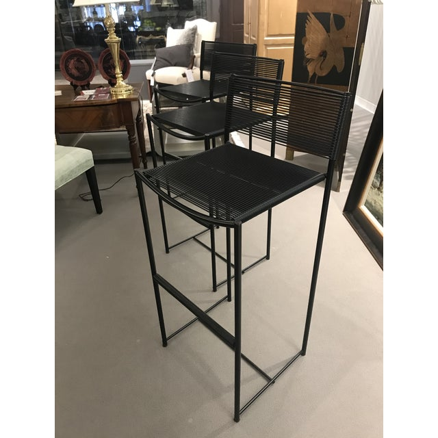 Contemporary Mid Century Style Italian Bar Stools - Set of 3 For Sale - Image 3 of 6