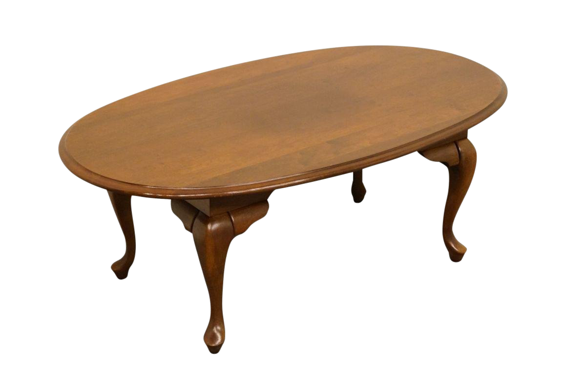 Late 20th Century Vintage Broyhill Lenoir House Solid Cherry Coffee Table