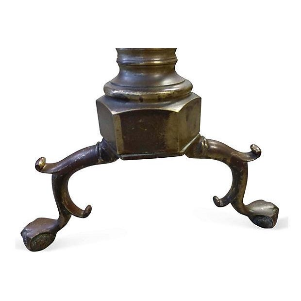 Large Brass and Iron Andirons - A Pair - Image 5 of 6