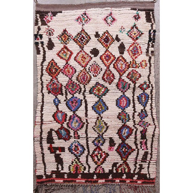 Hand Knotted Floral Geometric Moroccan - 4' X 7' For Sale In New York - Image 6 of 6