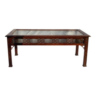 Kindel Glass Display/Shadowbox Coffee Table For Sale
