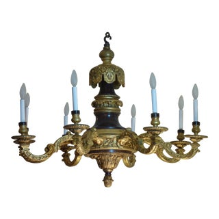 Antique English Rococo Style Chandelier For Sale