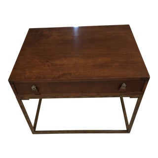 Mid-Century Tomlinson Wood With Metal Frame End Table/ Night Stand For Sale