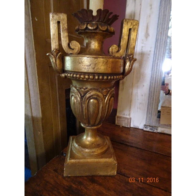 Vintage Gilt Wood Italian Lamps, Pair For Sale - Image 10 of 10