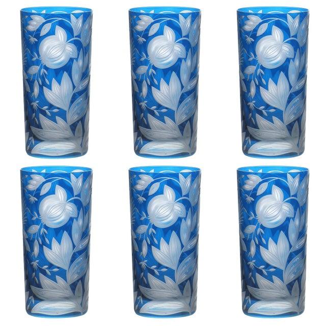Artel Verdure Highball Glasses, Set of 6, Azure For Sale - Image 4 of 4