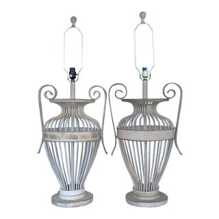 "1980s Vintage Neoclassical ""Urn"" Lamps - a Pair For Sale"
