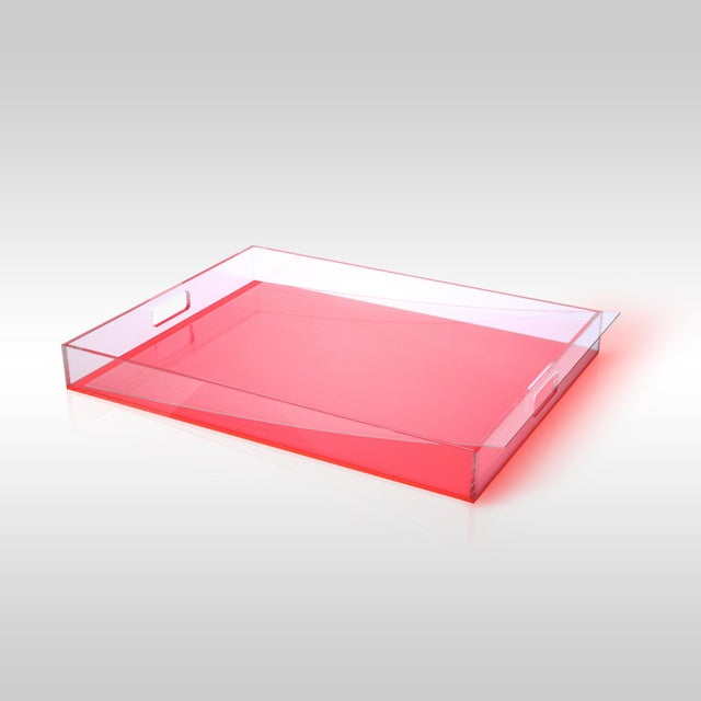 Pink Acrylic Tray - Image 3 of 3