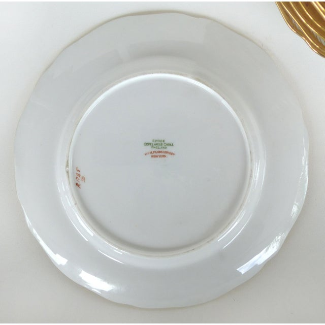 Copeland Spode Gilt Decorated Dessert Plates, Retailed by Wh Plummer- Set of 11 For Sale In Miami - Image 6 of 9
