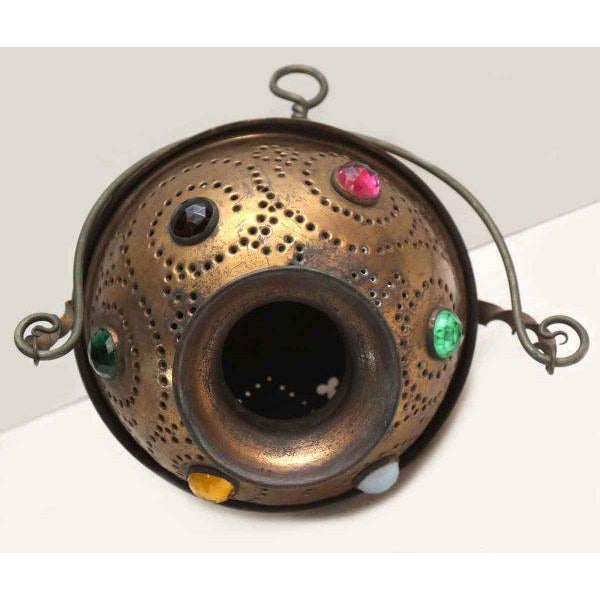 Vintage Brass Jeweled Incense Burner - Image 5 of 11