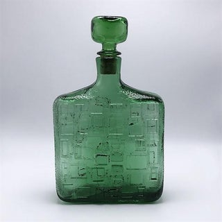 Green Glass Decanter With Stopper, C. 1970 Preview