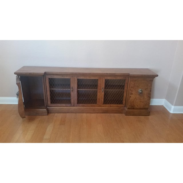 French-Style Burled Wood Credenza For Sale In Austin - Image 6 of 10