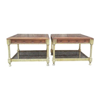Maison Jansen Style Regency Low End Tables-A Pair For Sale