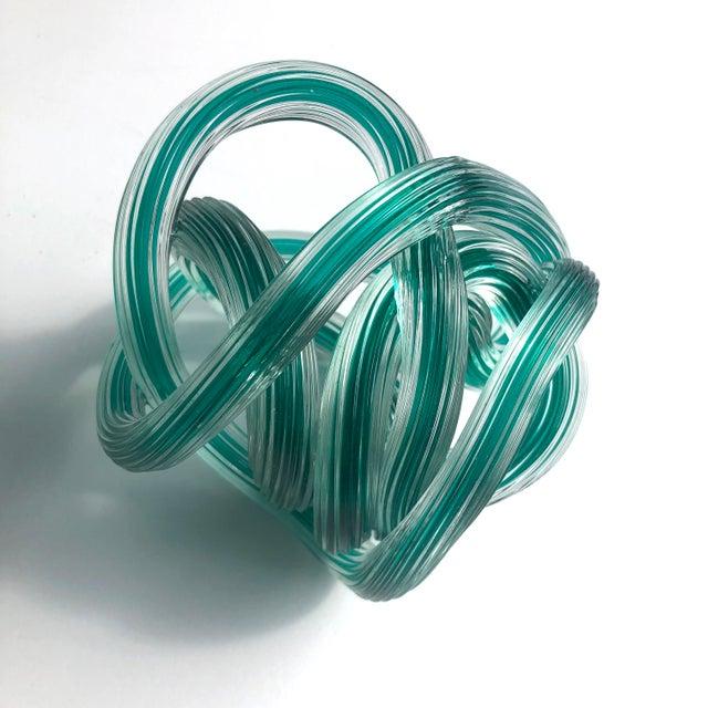 Licio Zanetti Italian Glass Knot Sculpture For Sale - Image 4 of 5