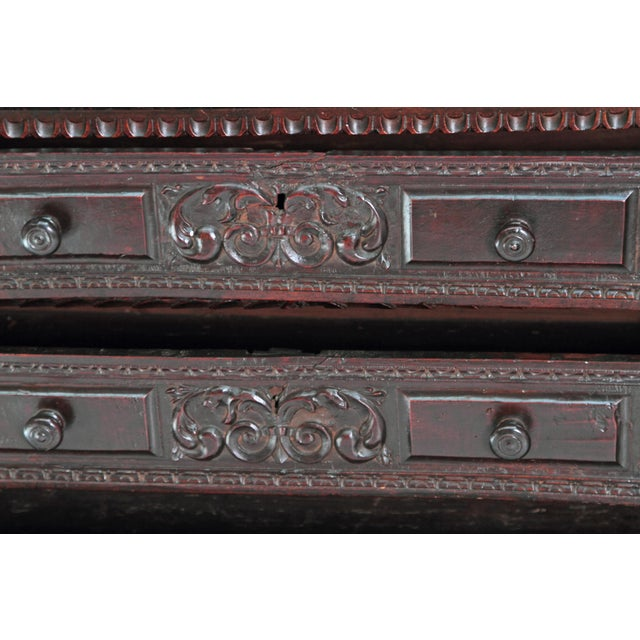 Brown 18th Century Spanish Walnut Chest For Sale - Image 8 of 12