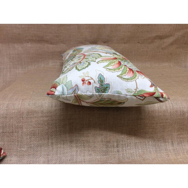 Contemporary Floral Linen Pillow For Sale In Raleigh - Image 6 of 8