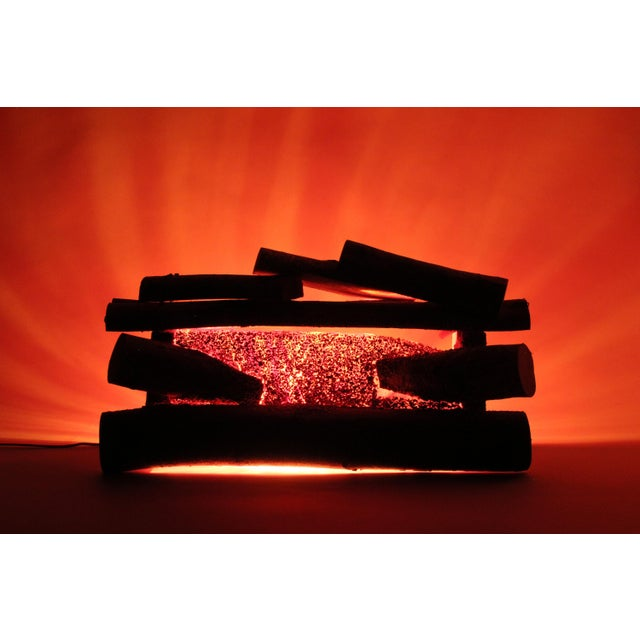Midcentury Fake Fireplace With Flickering Light - Image 3 of 7
