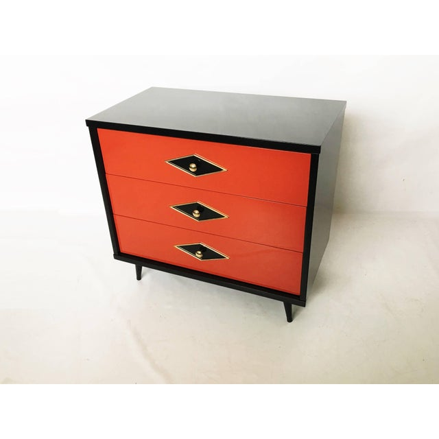 Stunning Pair of Neoclassical Lacquered Chests or Commodes For Sale In Dallas - Image 6 of 10