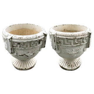 Urns - Cast Stone Vintage Urns - a Pair For Sale