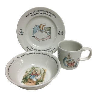 Wedgwood Peter Rabbit Children's Nursery Dishes - Set of 3