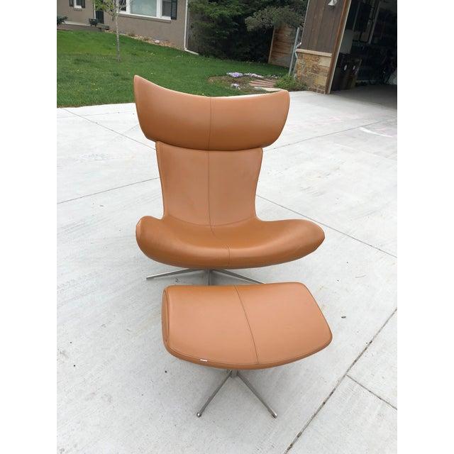 Animal Skin BoConcept Imola Chair & Ottoman For Sale - Image 7 of 7